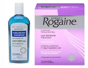 One Women's Rogaine Liquid 3-Months and one Dr. Varon's Shampoo