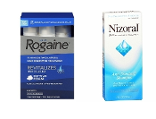 One Men's Rogaine 5% Foam 3-Months and one Nizoral A-D Shampoo