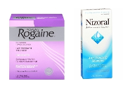 One Women's Rogaine 3-Months and one Nizoral A-D Shampoo