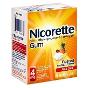 Nicorette Nicotine Gum, 4mg, Fruit Chill  100 pieces