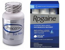 One Men's Rogaine 5% Foam 3-Months and 3 Months Procerin