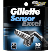 Gillette Sensor Excel, Cartridges, 10ct