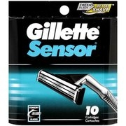 Gillette Sensor, Cartridges, 10ct
